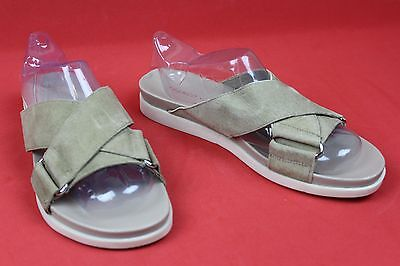 4f7de4c57e4a Franco Sarto Lure Beige Leather Criss Cross Slide Sandals Womens Size 8 M  Shoes