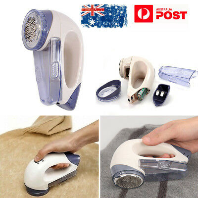 AU Portable Fluff Remover Electric Clothes Lint Pill Fabrics Sweater Fuzz Shaver