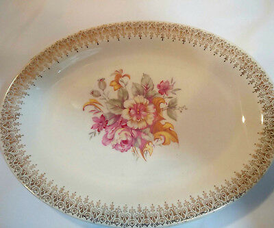 W S George Derwood Small Oval Serving Plate 1768 USA, Numbered on the Back