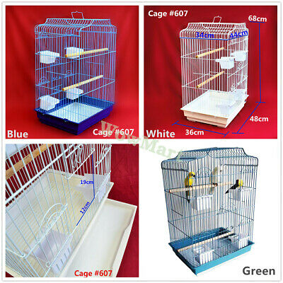 Portable Parrot Canary Budgie Finch Bird Cage #607 / #830 / Wheeled Stand C1 /C2