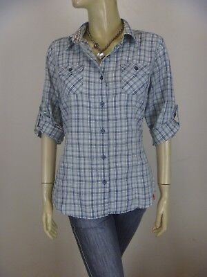 THE NORTH FACE Cotton Mix Shirt sz 12 M - BUY Any 5 Items = Free Post