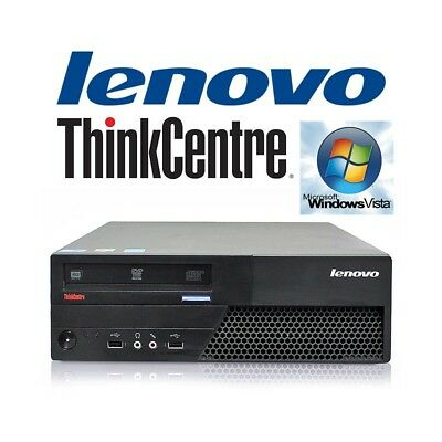 desktop computer lenovo thinkcentre m58 windows vista (c.1) pc refurbished