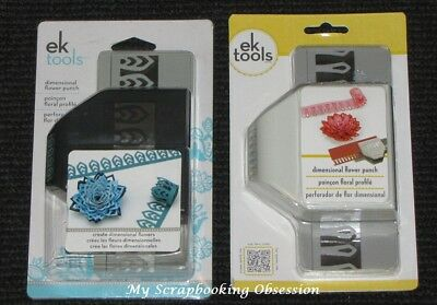 EK TOOLS 'DIMENSIONAL FLOWER PUNCH' (You choose design) Card Making - Clearance