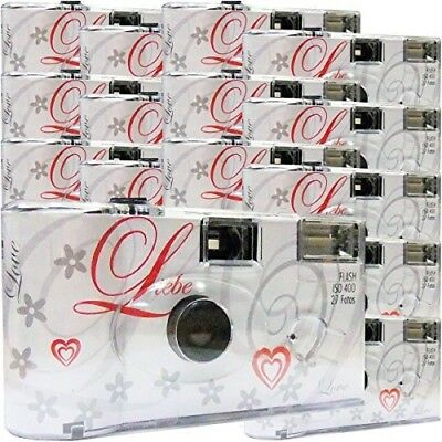 15x Disposable Camera / Wedding Camera Top Shot white / 27 Photos / Flash / 15