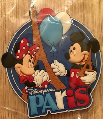 MAGNET / Aimant MK MN / Mickey Minnie PARIS 2D PVC Disneyland Paris