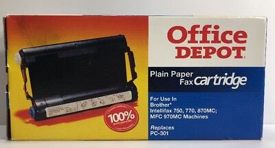 Office Depot Model 301B (PC-301) Fax Print Cartridge OD301B Brother & Intellifax