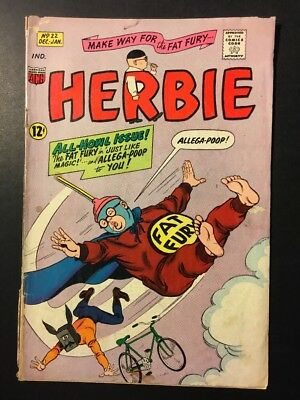 """Herbie the Fat Fury #22 Jan. 1966, """"Just Like Magic and Allega-Poop to You!"""""""