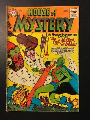 """House Of Mystery #147 Dec. 1964 Martian Manhunter """"The Orchestra Of Doom!"""""""
