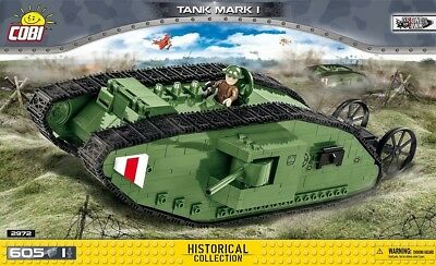 COBI Mark I / 2972 / 605 pcs  blocks WWI British tank Small Army
