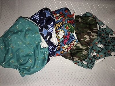 LOT of 8 Cloth Diapers One Size Washable Reusable Adjustable Mama Koala 5+3FREE
