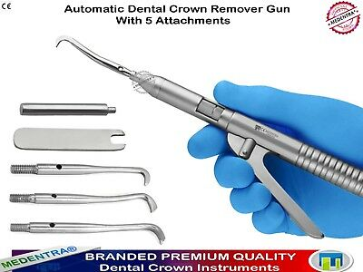 1Piece Dental Automatic Crown Removal Removing Gun Pistol with Free Attachments