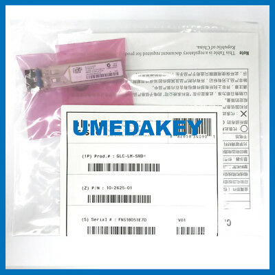 New Sealed Cisco Glc-Lh-Smd Sfp Transceiver Module Gbic