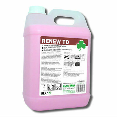 Clover Renew TD polymer Floor Maintainer (2x5Ltr) 104