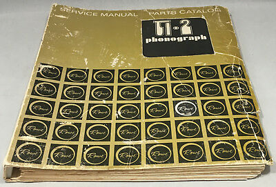 JUKEBOX MANUAL ROWE Ti 2 SERVICE MANUAL AND PARTS CATALOG - ORIGINAL & RARE