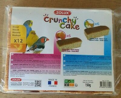 Zolux Crunchy Cake Aliment oiseaux 12 biscuits