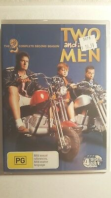 Two And A Half Men : Season 2 [4 DVD Set] NEW & SEALED, Region 4, FREE Post