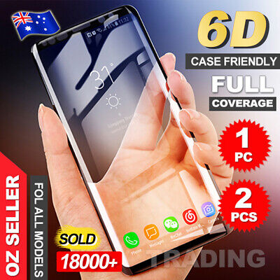 Galaxy S9 S8 Plus Note 8 6D Full Tempered Glass Screen Protector For Samsung
