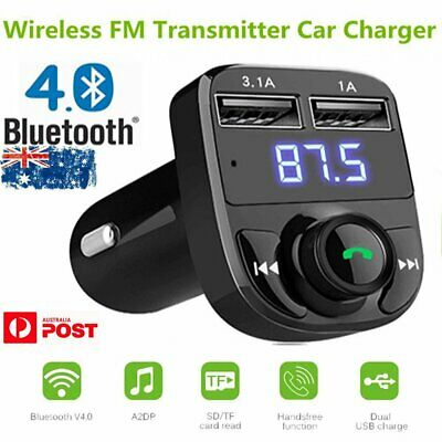 MPOW Bluetooth Car Kit MP3 Player FM Transmitter Dual USB Charger For iPhone AU