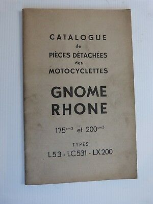 catalogue piece GNOME RHONE 175 & 200 type L53 LC531 LX200