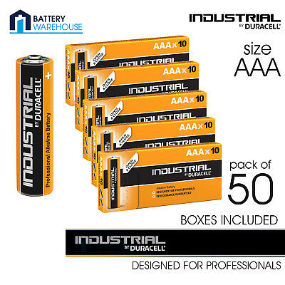 50 x Duracell AAA Industrial Battery | Procell Exp 2024 LR03 MN2400 24a Alkaline