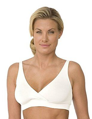 New Majamas Women's The Easy Maternity Nursing Bra, X-Large, White