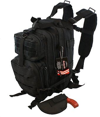 Waterproof Concealed Carry Tactical Assault Molle Backpack w/ Holster  Day Carry