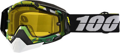 100% Racecraft Bootcamp Yellow Lens Skiing Snowboard Winter Snowmobile Goggles