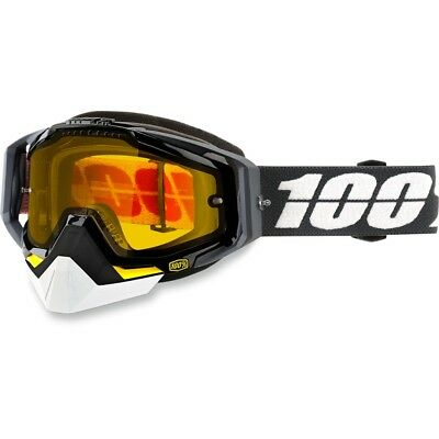 100% Racecraft Fortis Clear Lens Skiing Snowboard Winter Snowmobile Goggles