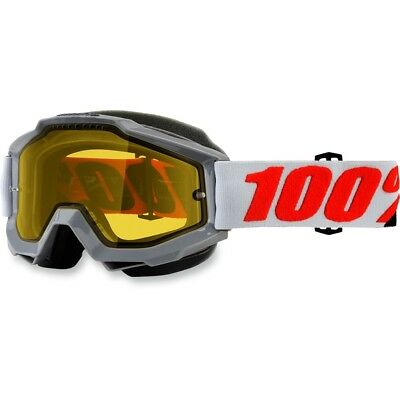 100% Racecraft Solberg Clear Lens Skiing Snowboard Winter Snowmobile Goggles