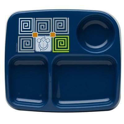 Toddlerific 3 Section Plate Toddler Food Plate Monkey Owl Mealtime Dinnerware