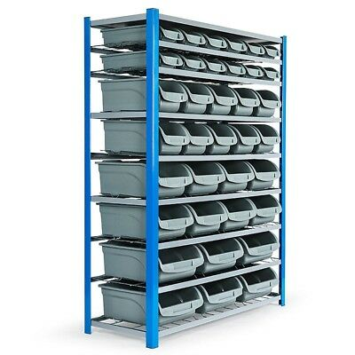 Baumr-AG 36 Bins with 8 Layer Storage Bin Rack