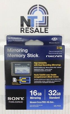 NEW Sony Memory Stick Pro-HG Duo 32GB MS-PX32 Mirroring Memory Stick