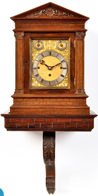 Miniature Triple Fusee Musical Bracket Clock With Matching Bracket 1890