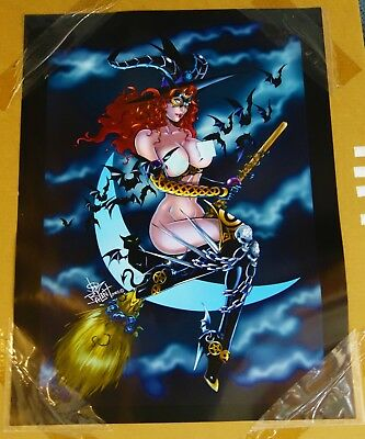 ADULT Lot of 3 - Tarot Witch Of The Black Rose Art Poster Signed Jim Balent - I1