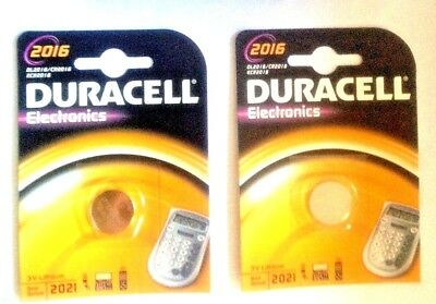 2 x CR2016 DURACELL 3V LITHIUM BUTTON COIN CELL BATTERIES GENUINE SEALED PRODUCT