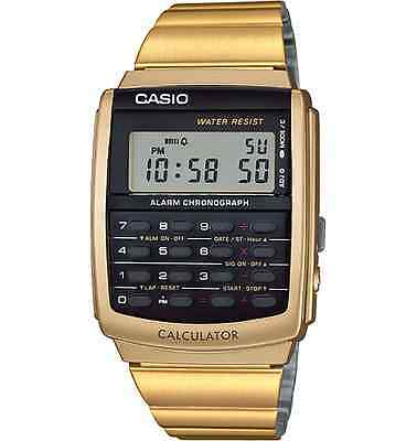 CASIO VINTAGE Calculator Watch Metal CA506G-9 Gold tone Edition New w/ Booklet