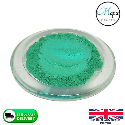 Cosmetic Mica Powder Green Jade Turquoise Pigment Soap Bath Bombs  Nail Art