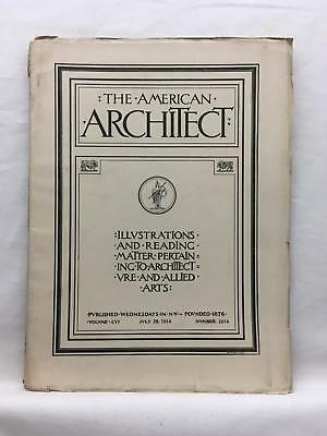 AMERICAN ARCHITECT 7/29 1914 Trade Journal Architecture