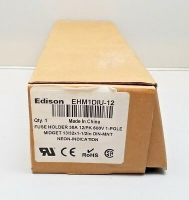 New Edison Ehm1Diu-12 Fuse Holders Pack Of 12