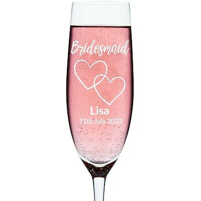 Bridesmaid Personalised Engraved Wedding Glass | Wine | Tumbler | Pint | Flute