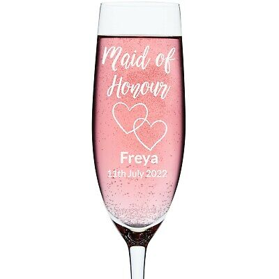 Maid/Matron Of Honour Personalised Engraved Wedding Glass | Wine | Tumbler |Pint