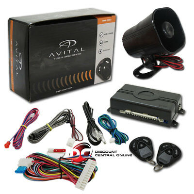Avital 3100Lx 3 Channel Car Alarm System W/ 2 Remotes, Keyless Entry & Horn
