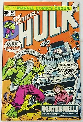 Marvel The Incredible Hulk Deathknell - #185 - Bronze Age - C45