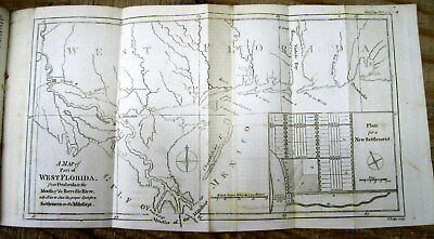 1772 map of WEST FLORIDA including ALABAMA Missisippi & LOUISIANA New Orleans