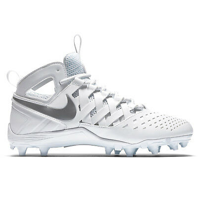 New Nike Huarache V LAX Mid Mens Lacrosse Cleats LX - White