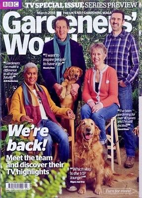 Bbc Gardeners World Magazine March 2018 ~ Tv Special Issue Series Preview ~ New