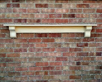 Solid Pine Mantel Shelf With Corbels Floating Mantle Piece Unfinished