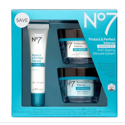 No7 Protect & Perfect Intense Advanced Skincare System New Never Used , opened