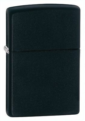 "Zippo ""Black Matte"" Finish Lighter, Full Size,  ***Flints & Wick***   218"
