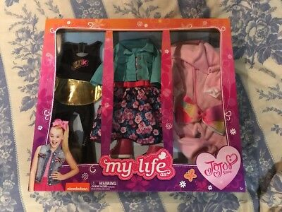 "JOJO SIWA MY LIFE Set of 3 Piece Clothing Clothes 18"" Doll WalMart - Brand New"